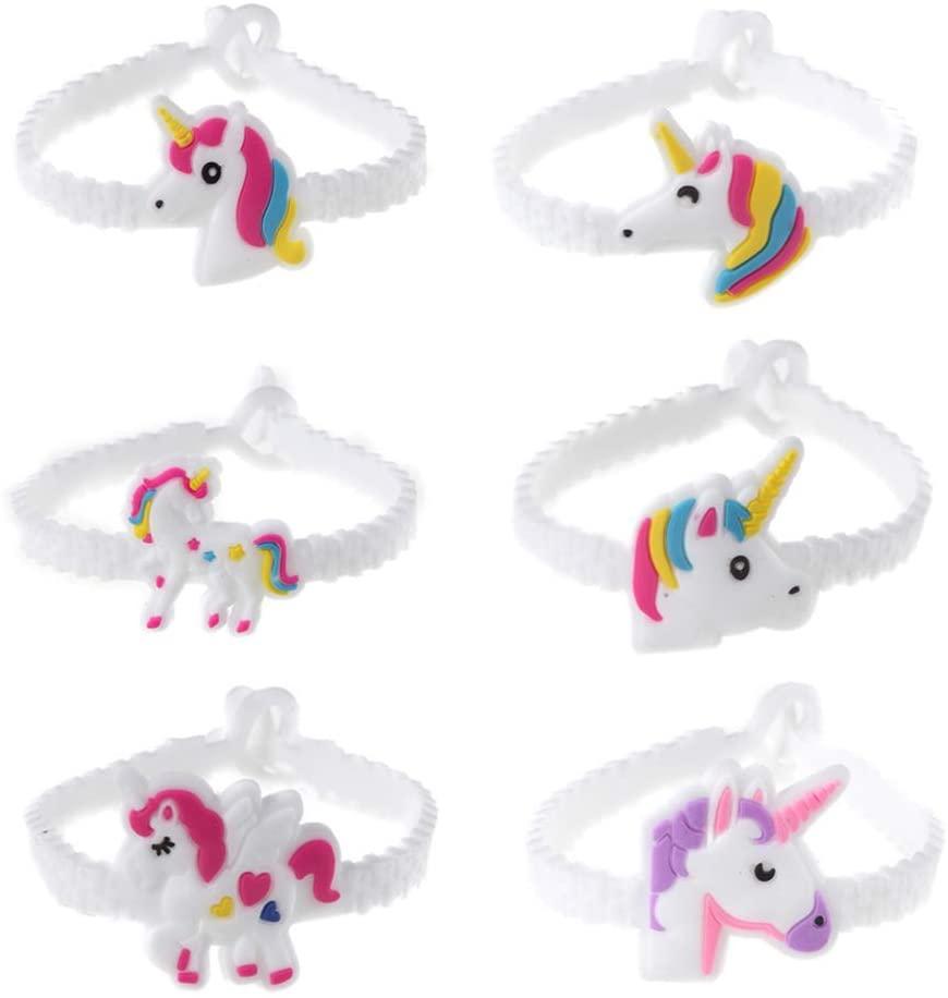 STOBOK 48pcs Unicorn Bracelets Wristbands Unicorn Birthday Party Favors Supplies for Kids Children