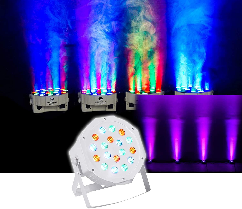 Rockville LED RGB Compact Par Can DJ/Club/Stage DMX Wash Light - White RockPAR50 Wht