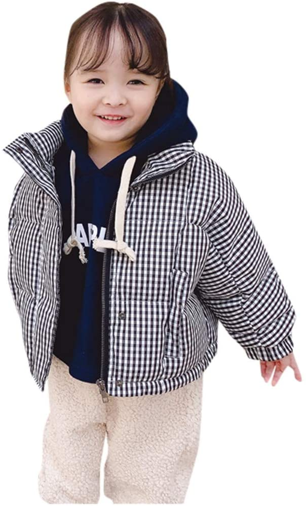 Coats and Jackets for 12-18 Months Baby and Kids, Toddler Baby Boys Girls Plaid Print Sweatershirt Knit Coat&Jackets Outfuts, Girls Coat&Jacket (Black 12-18 Months)