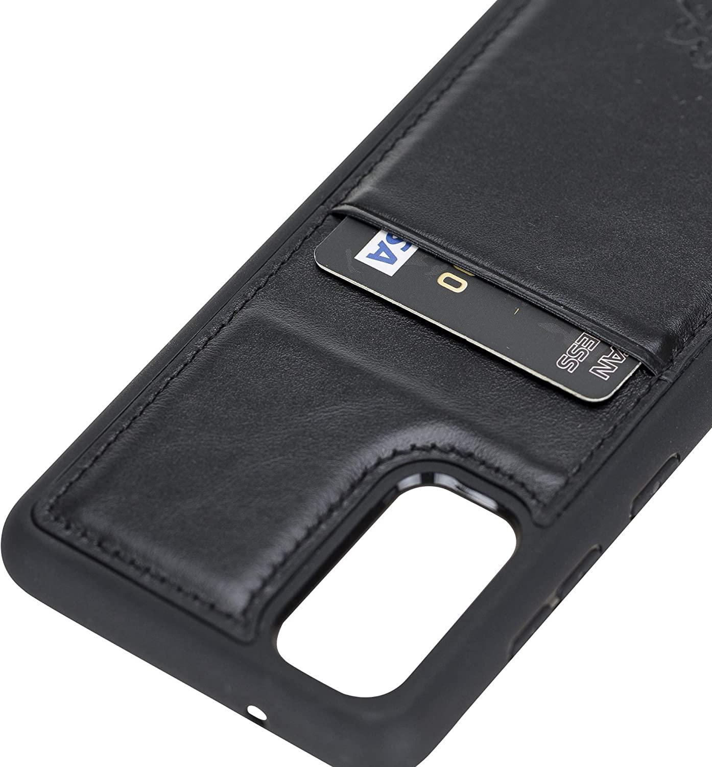 Venito Capri Leather Wallet Case Compatible with Samsung Galaxy S20 (6.2 inch) – Extra Secure with RFID Blocking & Padded Back Cover - Rustic Black