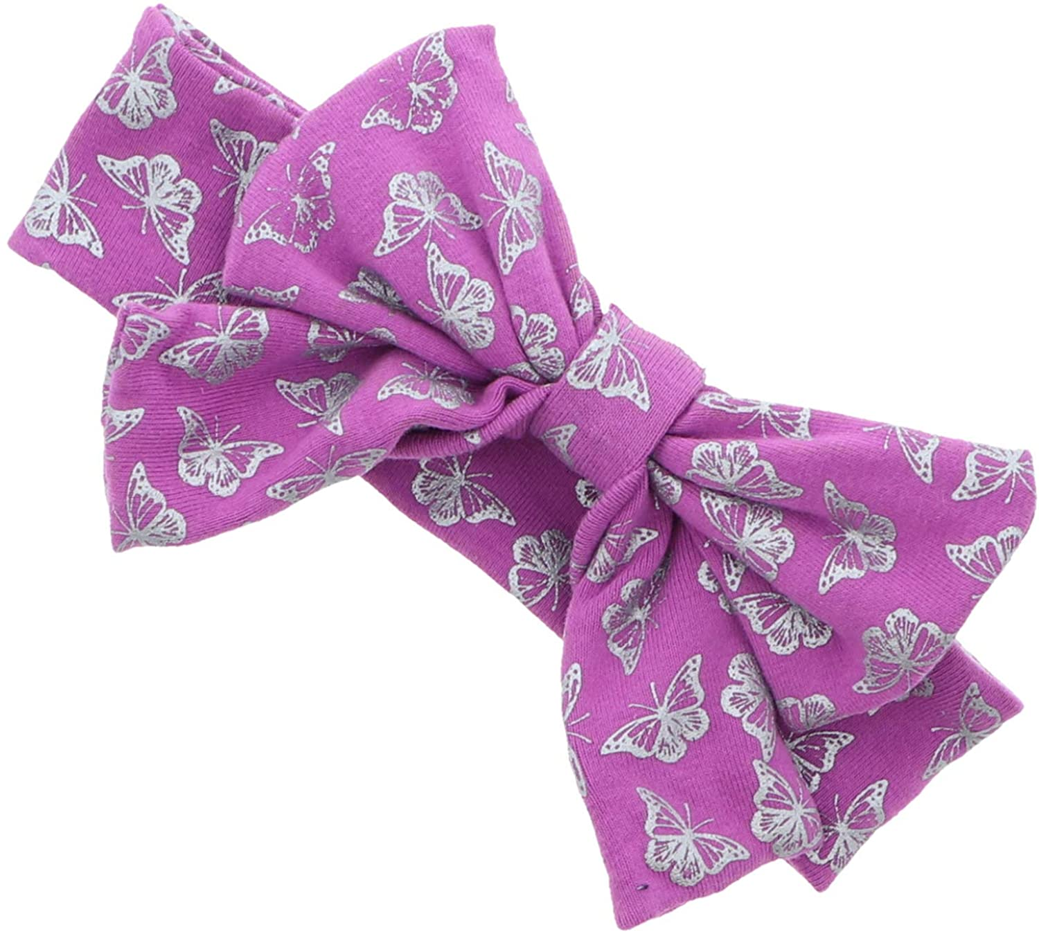 Hair Bow With Butterflies Baby Headband