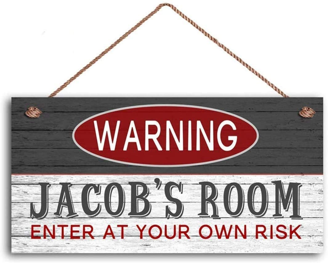 INNAPER Warning Sign, Childs Gift, Child Door Sign, Teen Sign, 10x5(49BW1262)