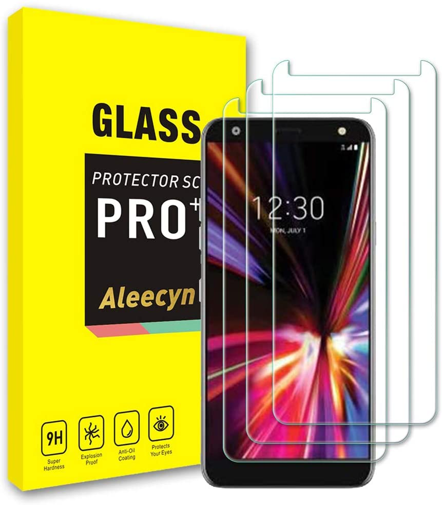 [3 Pack] Compatible with LG K40 (2019) Screen Protector Tempered Glass, Protective Screen, 9H Hardness, Bubble Free, Scratch Protection, Case Friendly, Tempered Glass Screen Protector for LG K40 (2019)