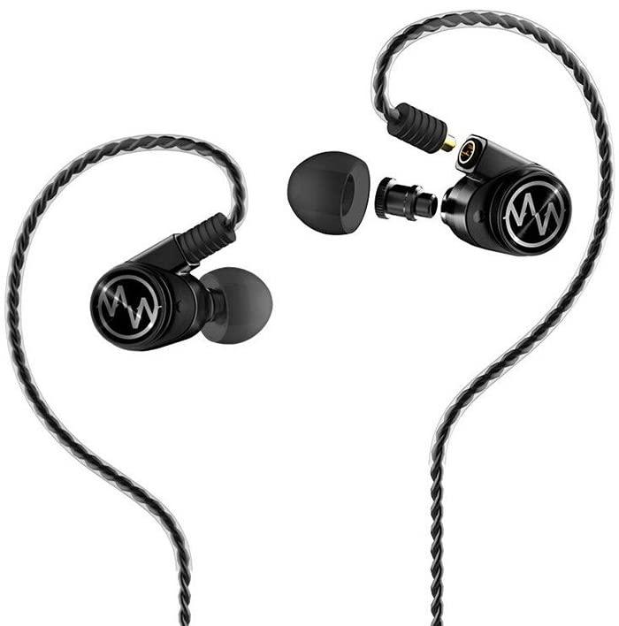 Macaw GT600S HiFi Dynamic Driver Balanced Armature Hybrid MMCX in-Ear Earphone (Black)