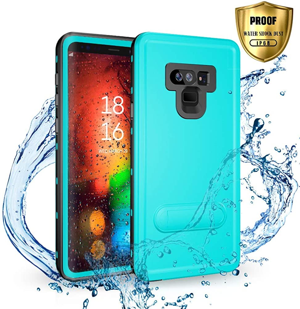 SEEBAY Galaxy Note 9 Waterproof Case | Underwater Full Body Dust/Snow/Shock Proof Hard Cover with Kick Stand for Samsung Galaxy Note9 (6.4'') |Touch ID Available | Access to All Functions
