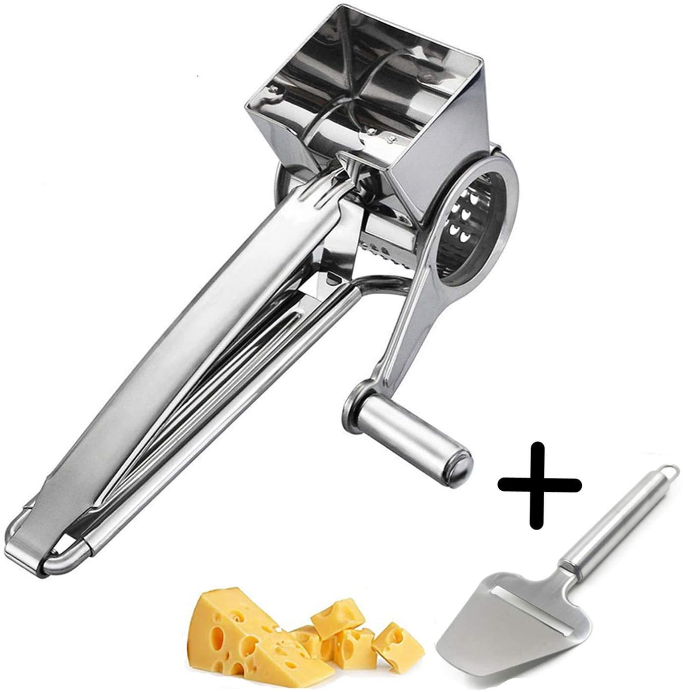 Cheese Grater Cuter Parmesan Cheese Lemon, Ginger, Garlic, Nutmeg, Chocolate, Vegetables, Fruits - Razor-Sharp Stainless Steel Blade Wide Dishwasher Safe