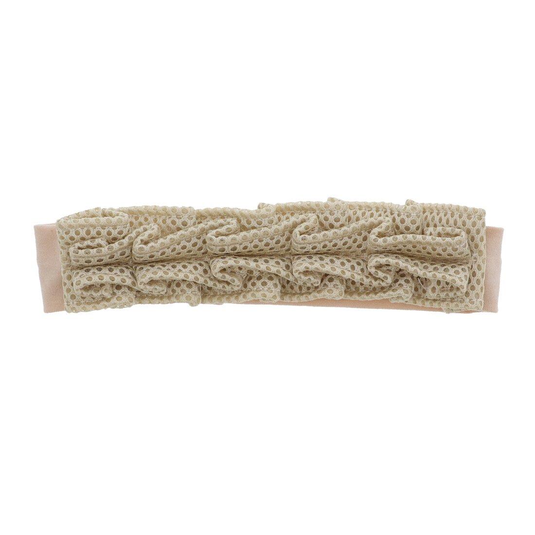 Textured Mesh Pleated Baby Headband - Tan