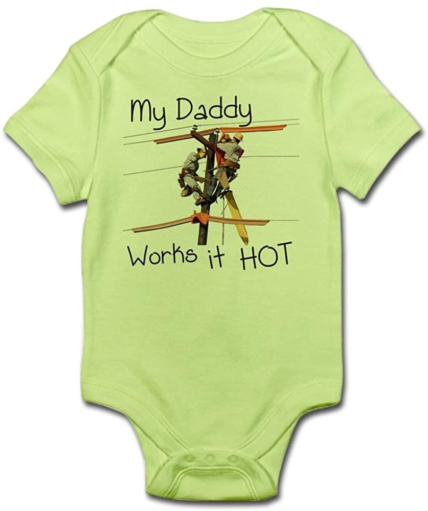 CafePress Lineman Daddy Cute Infant Bodysuit Baby Romper