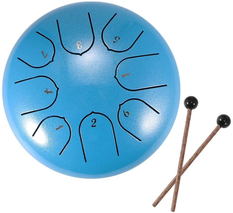 SOOTOP Steel Tongue Drum, Lotus Hand Pan Drum Percussion Instruments with Drum Mallets Carry Bag for Music Therapists Performances