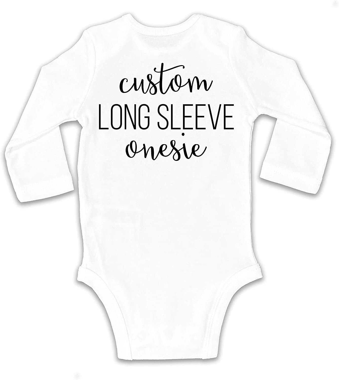 Custom Long Sleeve Onesie/Bodysuit   Personalized Baby Romper