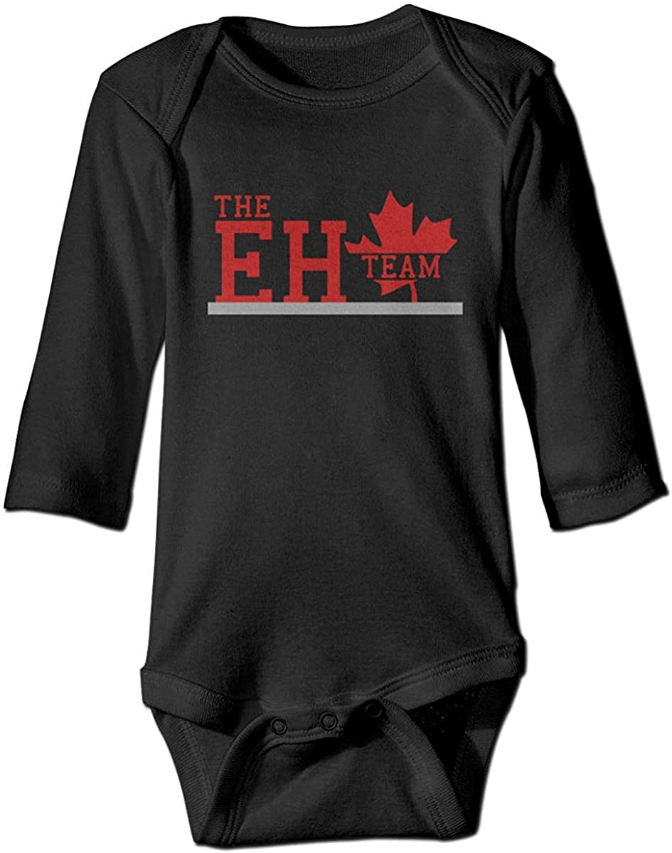 Canada On The Eh Team Baby Unisex Onesie Jumpsuit Long Sleeve Bodysuit Outfits