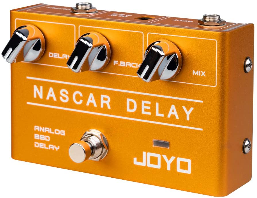 JOYO Nacar Analog Delay R-10 R Series Effect Pedal Classic BBD Deliver Vintage Warm Natural Sound Perfect for Sentimental Electric Guitar Solo (R-10)