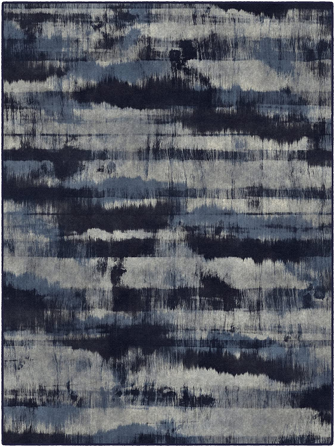 Brumlow MILLS Contemporary Abstract Home Indoor Area Rug with Modern Colorful Print Pattern, Perfect for Kitchen Rug, Living, Dining or Bedroom Room Décor, 5' x 8', Navy (EW10004-5x8)