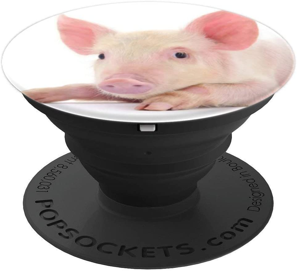 Pig Cute Pink Piggie Animal Gift PopSockets Grip and Stand for Phones and Tablets