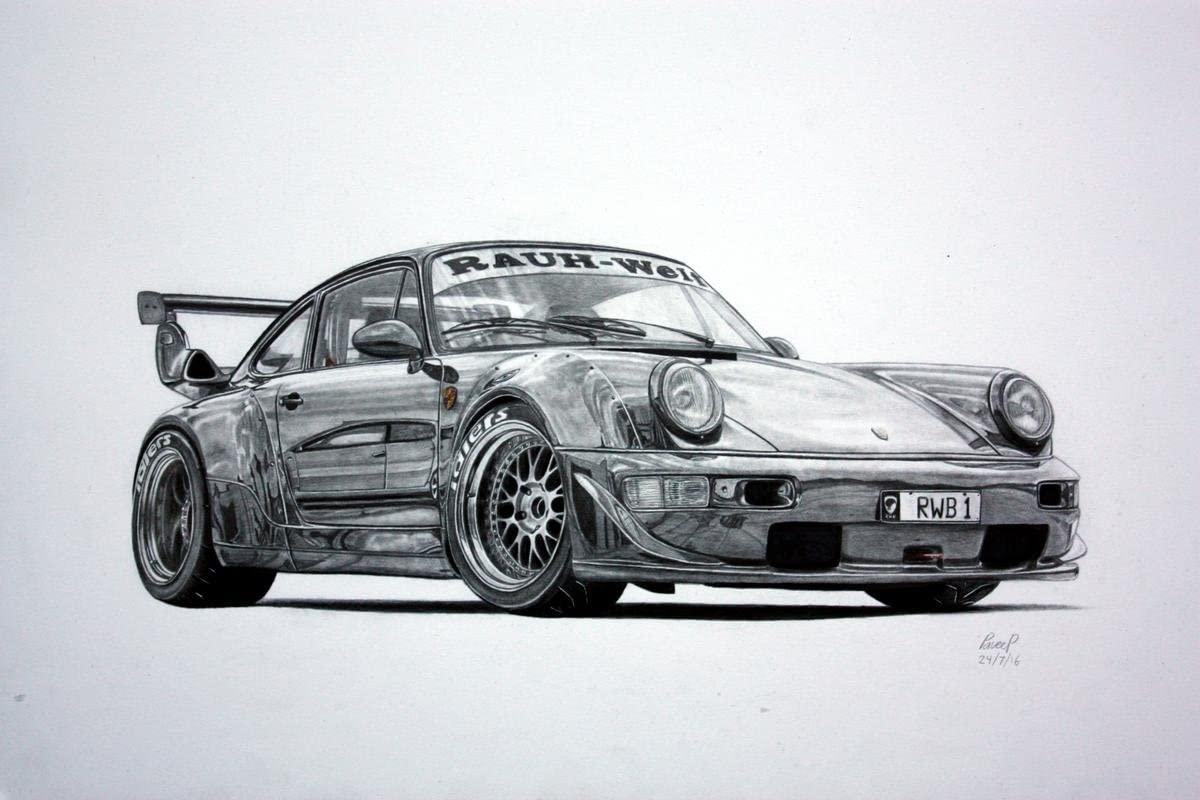 Gifts Delight Laminated 36x24 Poster: RWB Porsche 964