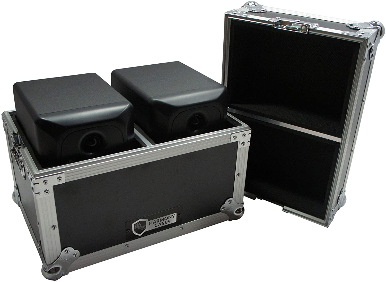 Harmony HCSTUMON5 Flight Transport Road Case Compatible with Sterling Audio MX5 Monitors