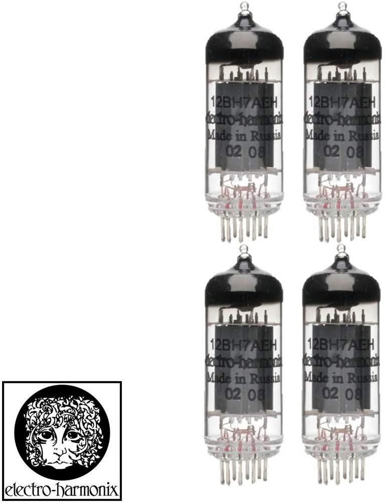 Brand New Gain Matched Quad (4) Electro-Harmonix 12BH7 Vacuum Tubes