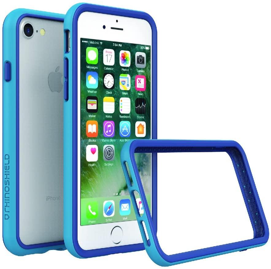 RhinoShield Ultra Protective Bumper Case [iPhone SE2 / SE (2020) / 8/7] | CrashGuard - Military Grade Drop Protection Against Full Impact, Slim, Scratch Resistant - Blue