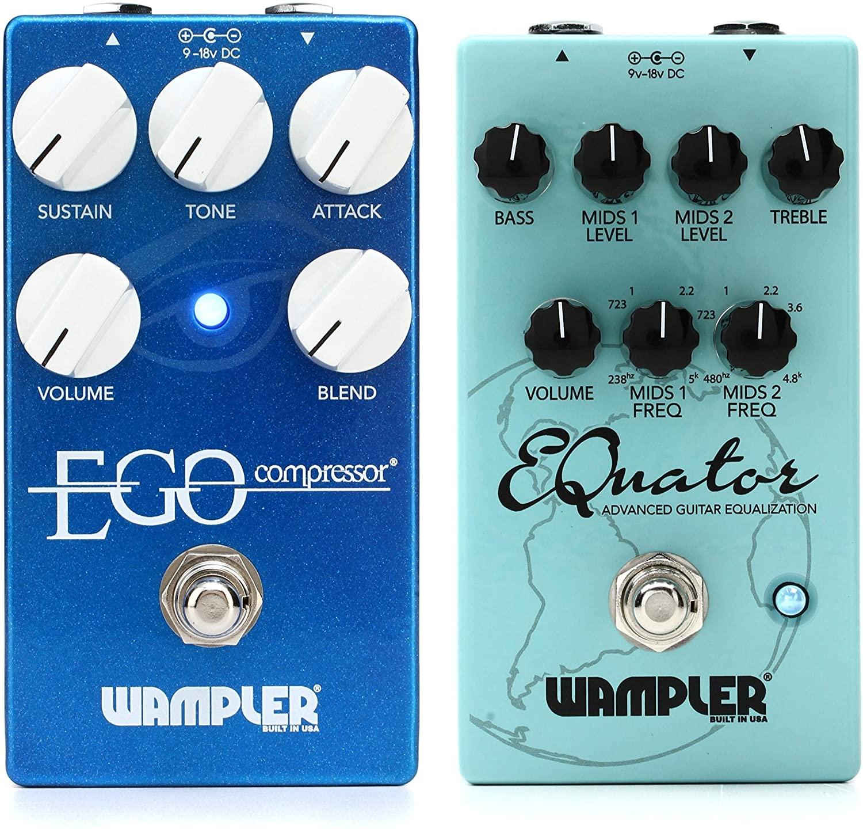 Wampler Ego Compressor Pedal with Blend Control + Wampler EQuator Advanced Guitar Equalization Pedal Value Bundle