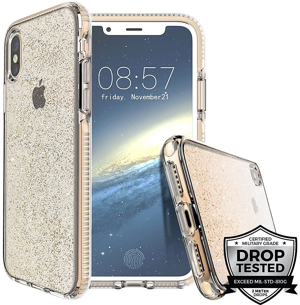 Prodigee Apple iPhone Case for iPhone SE 2020, iPhone 8, iPhone 7, iPhone 6/6s - Gold | Superstar Series | Shockproof | 6 ft. Drop Tested | Scratch Resistant | Anti Yellowing iPhone Case - 4.7 inch