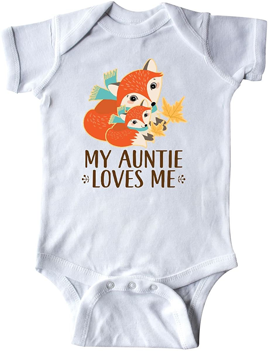 inktastic Auntie Loves Me Woodland Fox Gift Infant Creeper