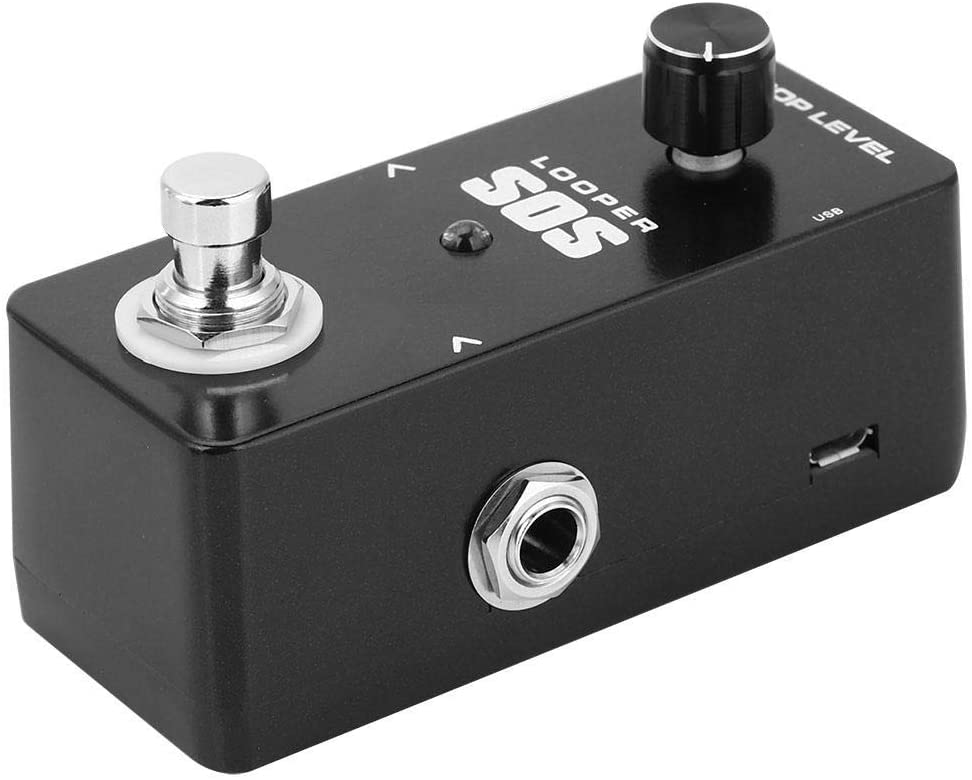 Simlug Micro-B USB Guitar Looper, Bass Looper, 48K Metal Shell 24bit Lossless footswitch for Win MacOs