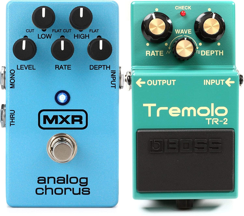 Boss TR-2 Tremolo Pedal + MXR M234 Analog Chorus Pedal Value Bundle
