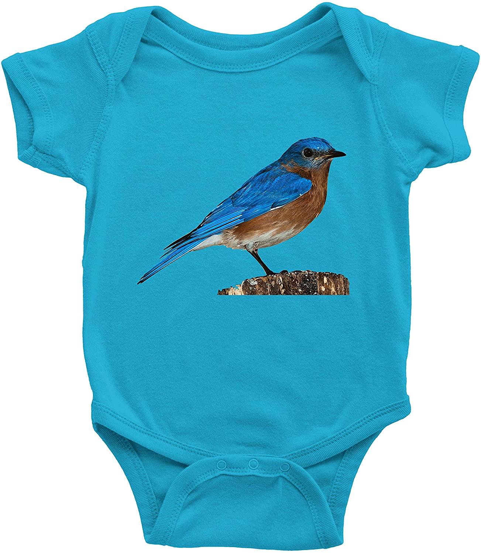 Beautiful Blue Bird Infant Baby Clothes Bodysuits Jumpsuit Romper Babysuit Shower Gift Mountain Bluebird