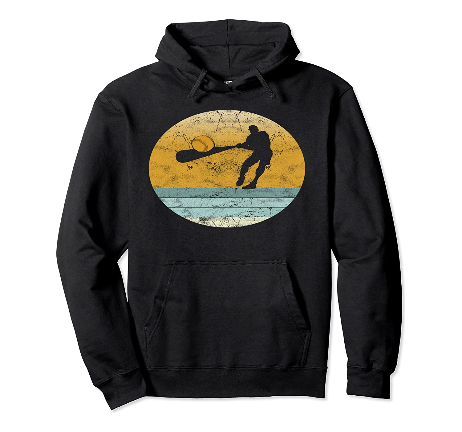 Retro Softball Vintage Style Sport Gift for Men Pullover Hoodie