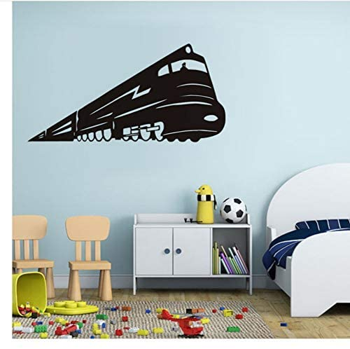 vbjtrx Locomotive Train Wall Stickers Vinyl Decals Removable Waterproof Wallpaper Kids Rooms Sticker Wall Decor89X44Cm