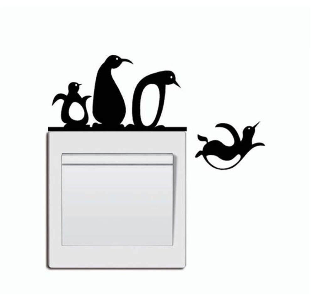 Little Penguin Light Switch Sticker Cute Animal WallDecals,VinylRemovablePVCStickersDecor forHomeBedroomLivingRoom Decoration2.0×5.0 in