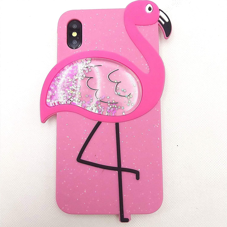 iPhone 8 Plus Case Cute iPhone 7 Plus Case 3D Cartoon Quicksand Flamingo Bling Glitter Silicone Rubber Cover Women Teen Girls Cute Phone Cases iPhone 8 Plus 8+ / 7 Plus 7+ (Rose, iPhone 6+/7+/8+)