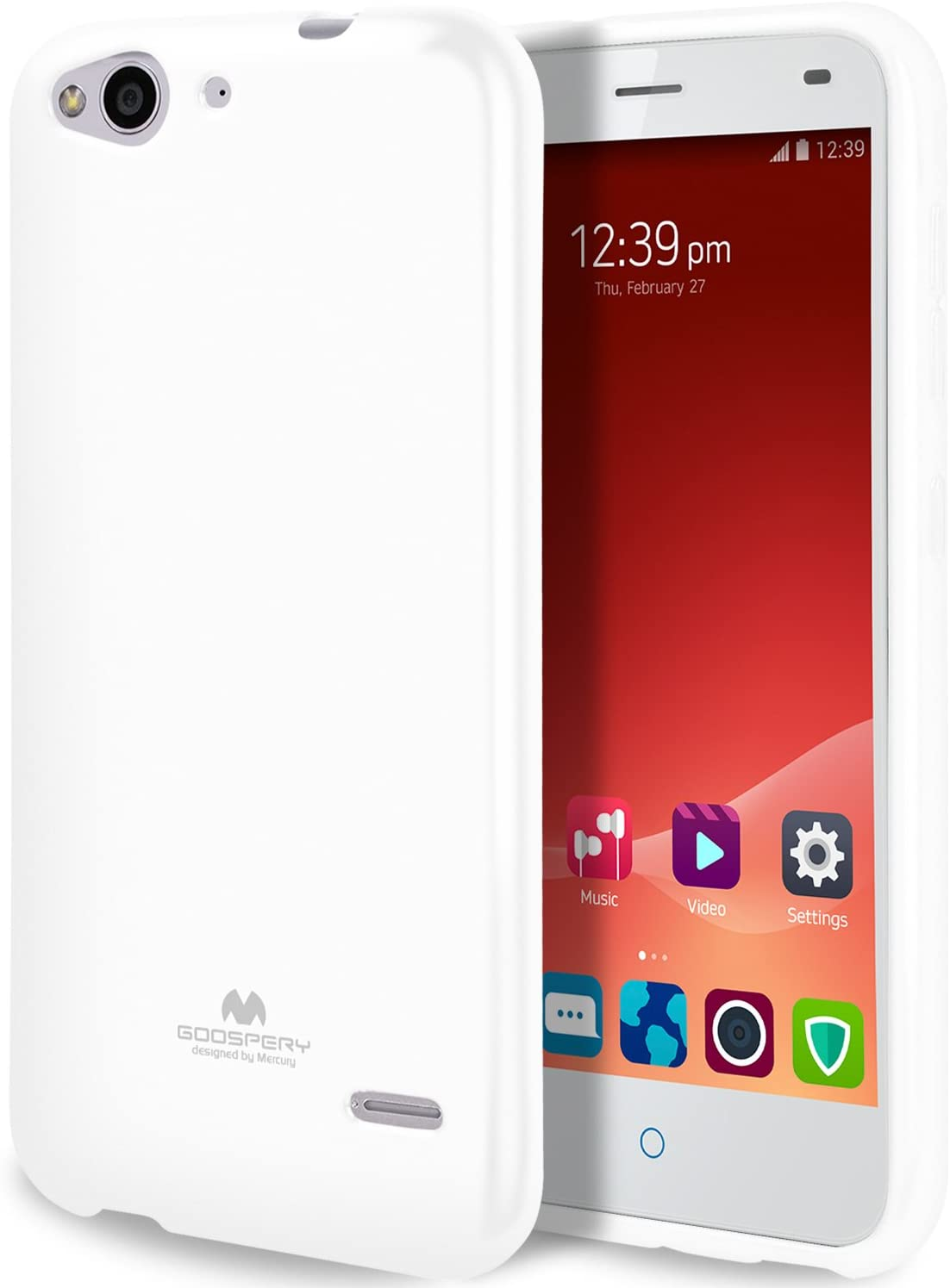 GOOSPERY Pearl Jelly for ZTE Blade S6 Case (2015) with Screen Protector Slim Thin Rubber Case (White) ZTEBDS6-JEL/SP-WHT
