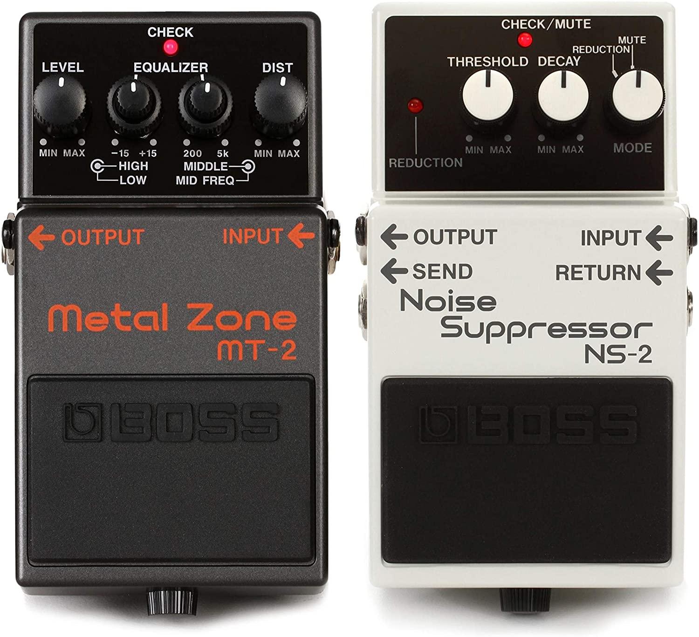 Boss MT-2 Metal Zone Distortion Pedal + Boss NS-2 Noise Suppressor Pedal Value Bundle