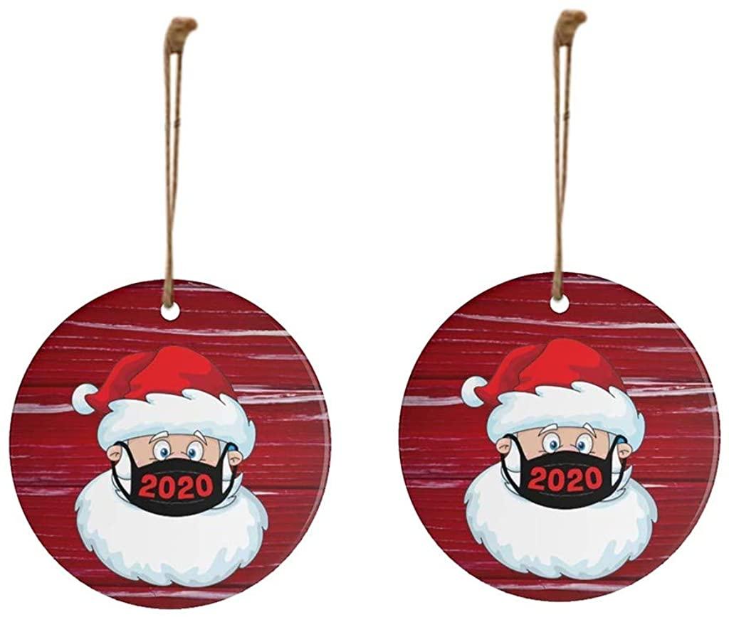 POPNINGKS 2020 Christmas Ornament Home Xmas Decoration Innovative Gifts Santa Decorate Christmas Tree Holiday Supplies
