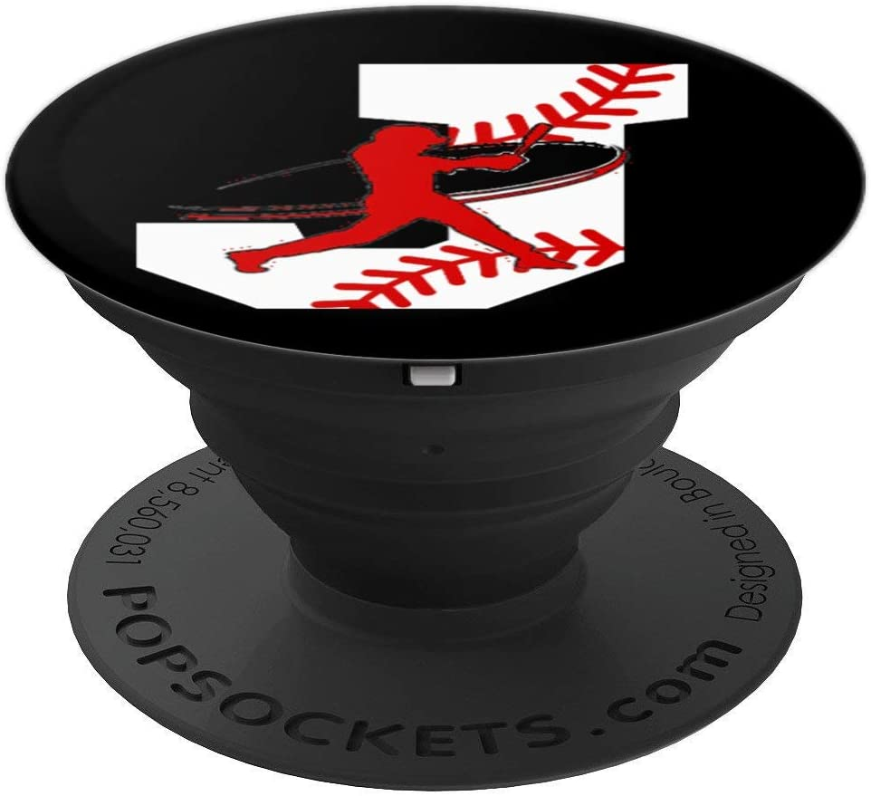 Baseball Letter J Accessory - Initial - Alphabet - Monogram PopSockets Grip and Stand for Phones and Tablets