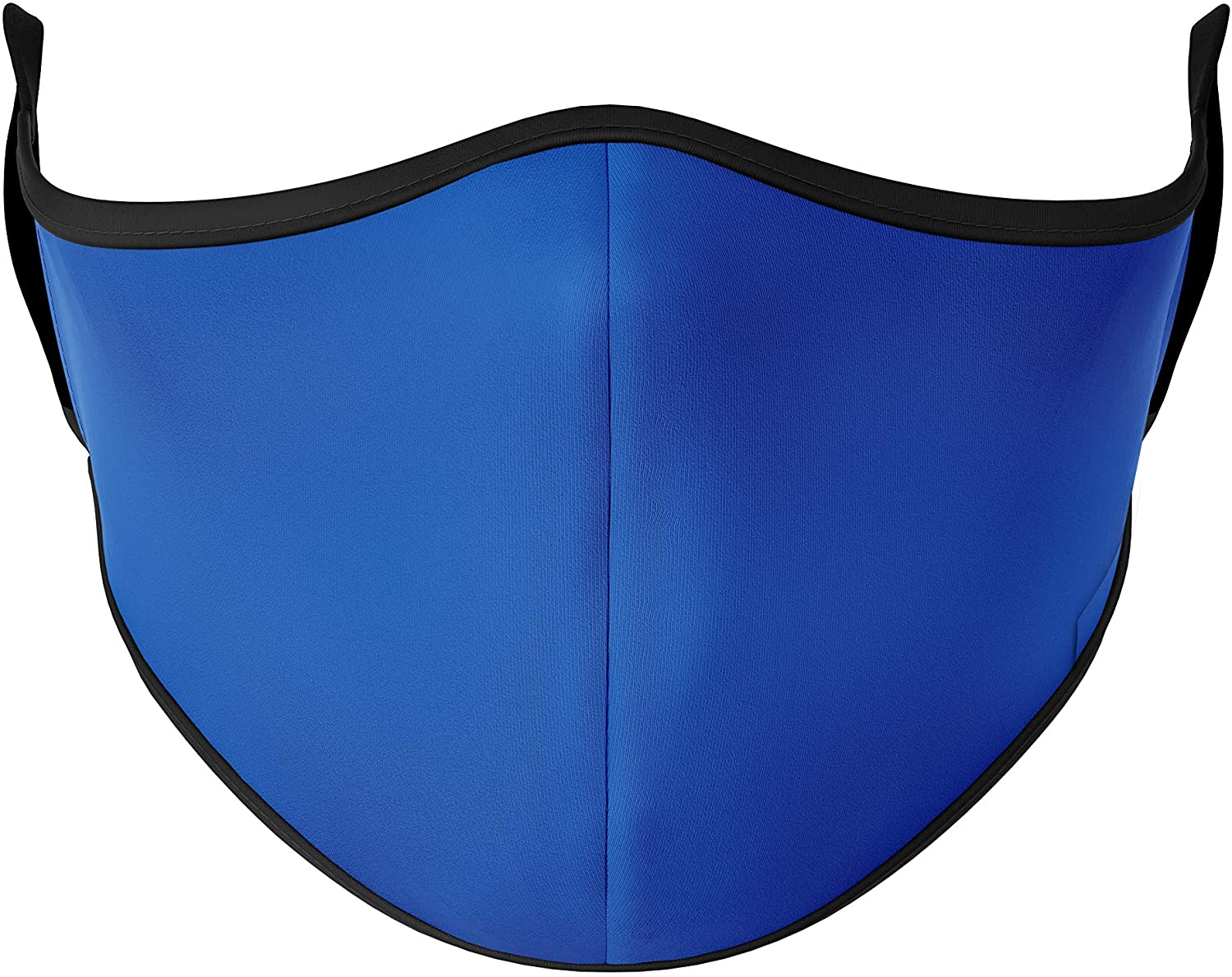 Top Trenz Reusable Face Mask Made with Stretch Cloth for Everyday Use - Indoor/Outdoor Face Cover - Royal Blue - Adult Large