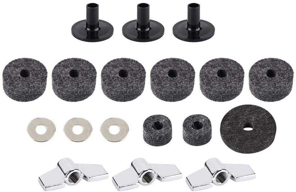 Bnineteenteam Long Cymbal Sleeves and Cymbal Felt Washer Set