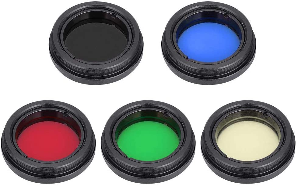 Telescope Lens Filter,1.25 Inch/31.7mm Telescope Eyepiece Lens Color Filter Support Most Telescopes for Moon/Nebula/Planet/Sun