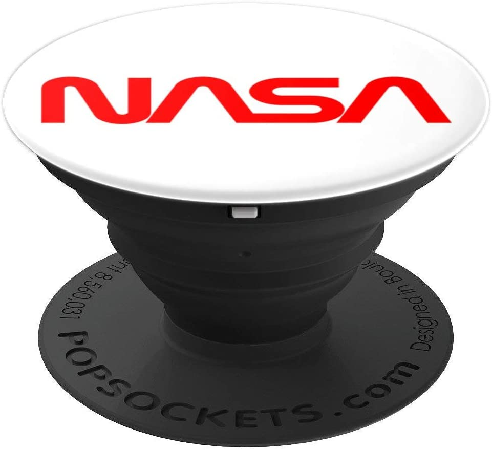 NASA Worm Logo PopSockets Grip and Stand for Phones and Tablets
