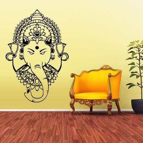 STICKERSFORLIFE Wall Vinyl Decal Sticker Decal Ganesh Om Lotos Elephant Lord Hindu Buddha India z1605