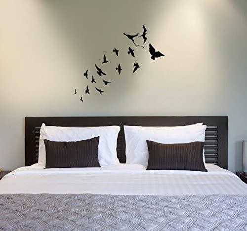 CreativeWallDecals Wall Decal Vinyl Sticker Flock of Birds Flying Seagulls Sea Bird Bedroom B39