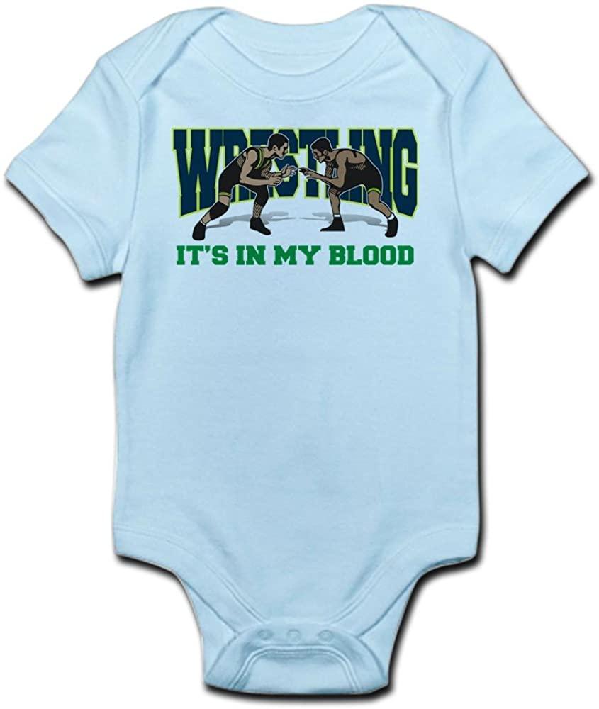 CafePress Wrestling It's in My Blood Baby Bodysuit