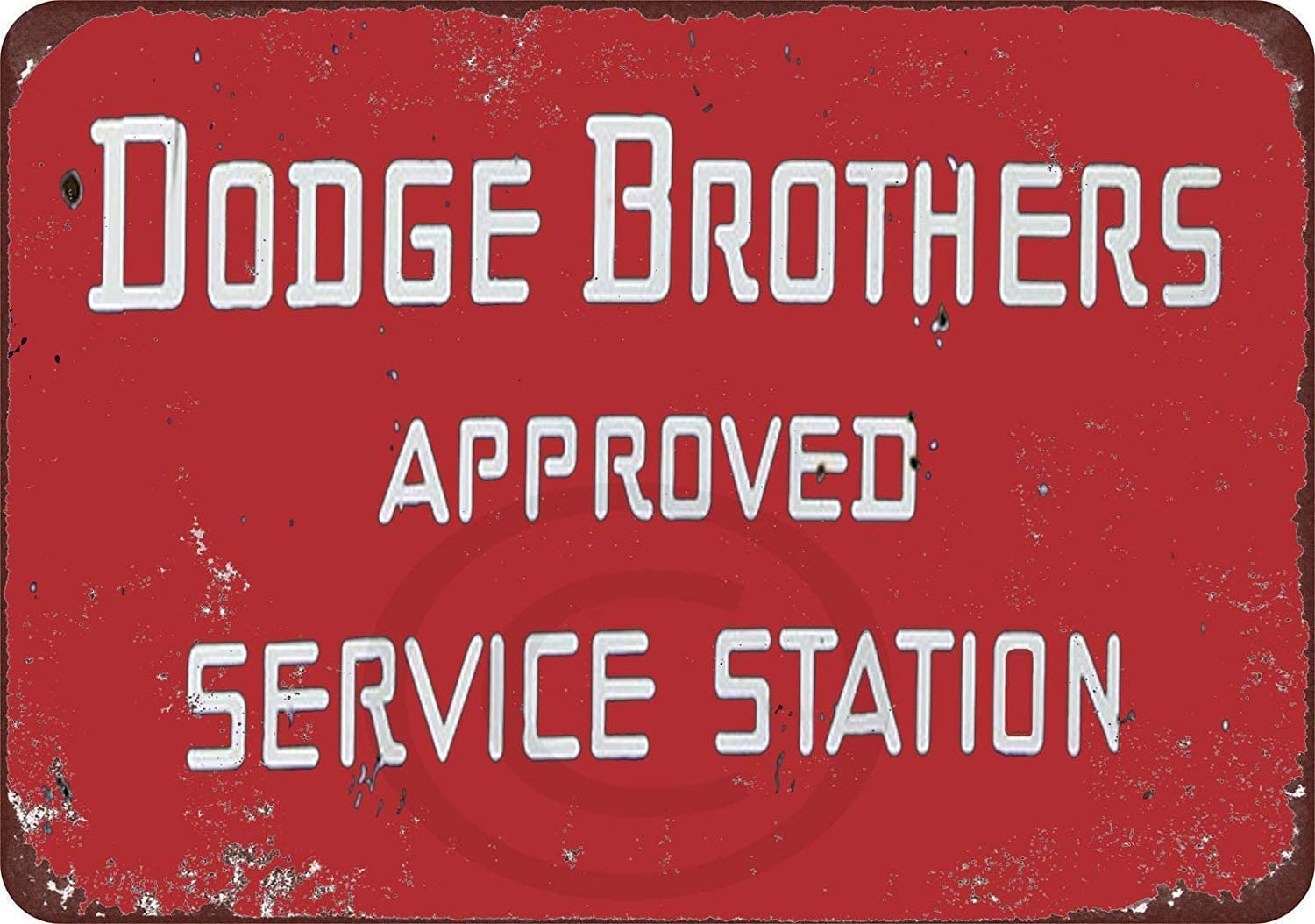 WEIMEILD New Tin Sign Dodge Brothers Cars Approved Service Station Aluminum Metal Sign 8x12 Inches (M4075)