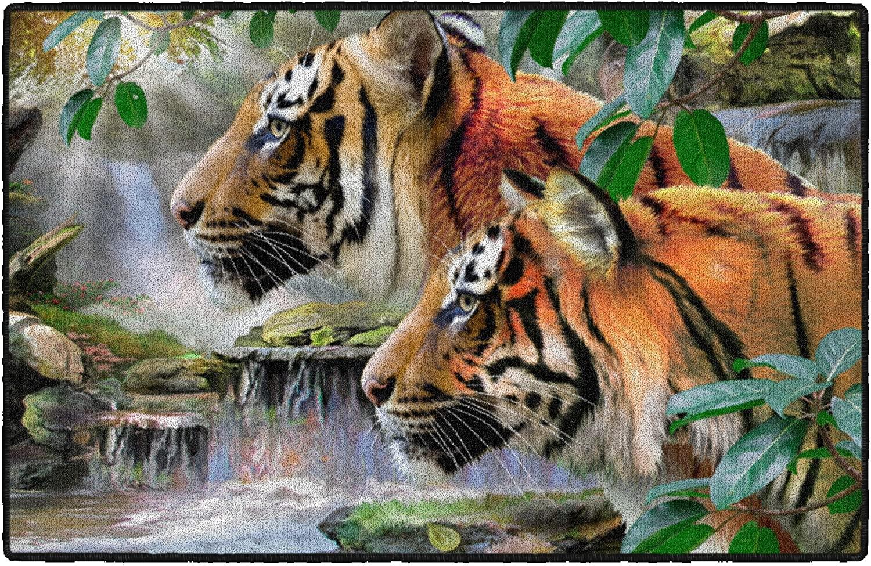 Brumlow Mills Early Rise Wildlife Tiger Rug 1'8