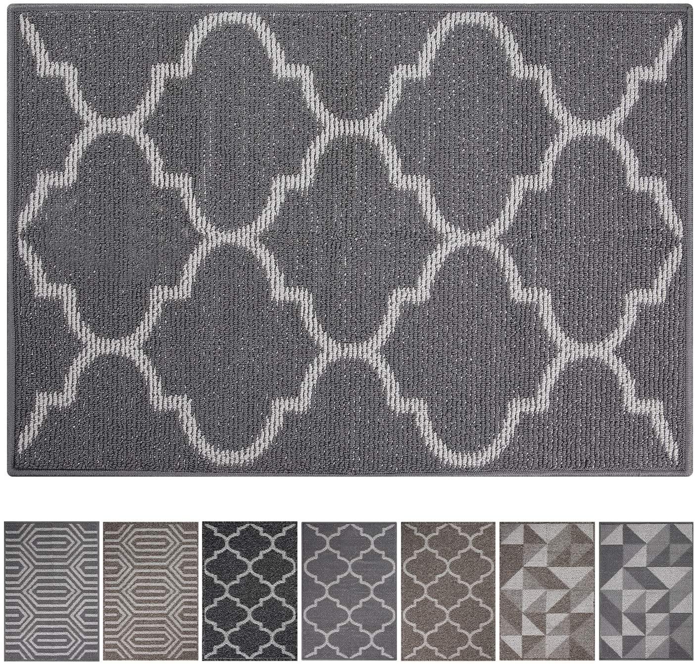 Kitinjoy Premium Durable Indoor Door Mat, Non Slip Absorbent Resist Dirt Entrance Rug, 24