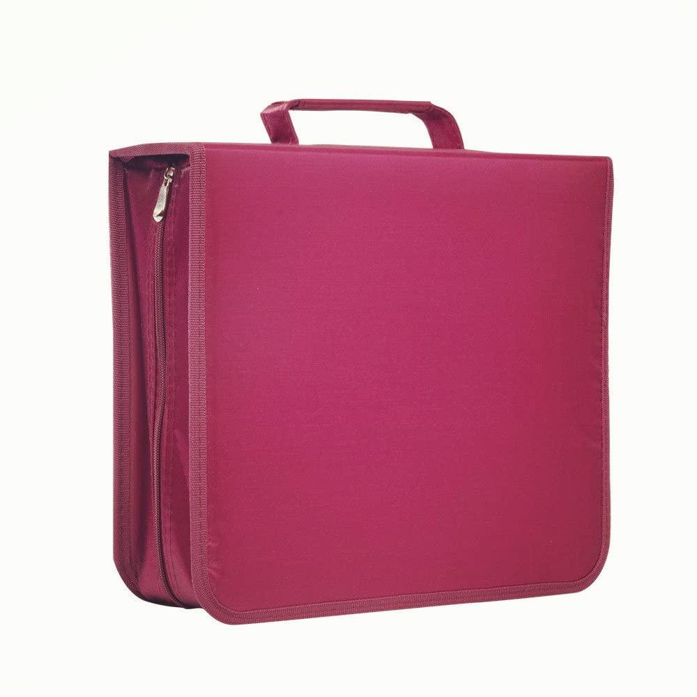 256 Capacity CD/DVD case Wallet, Storage,Holder,Booklet by Rekukos(Rose)