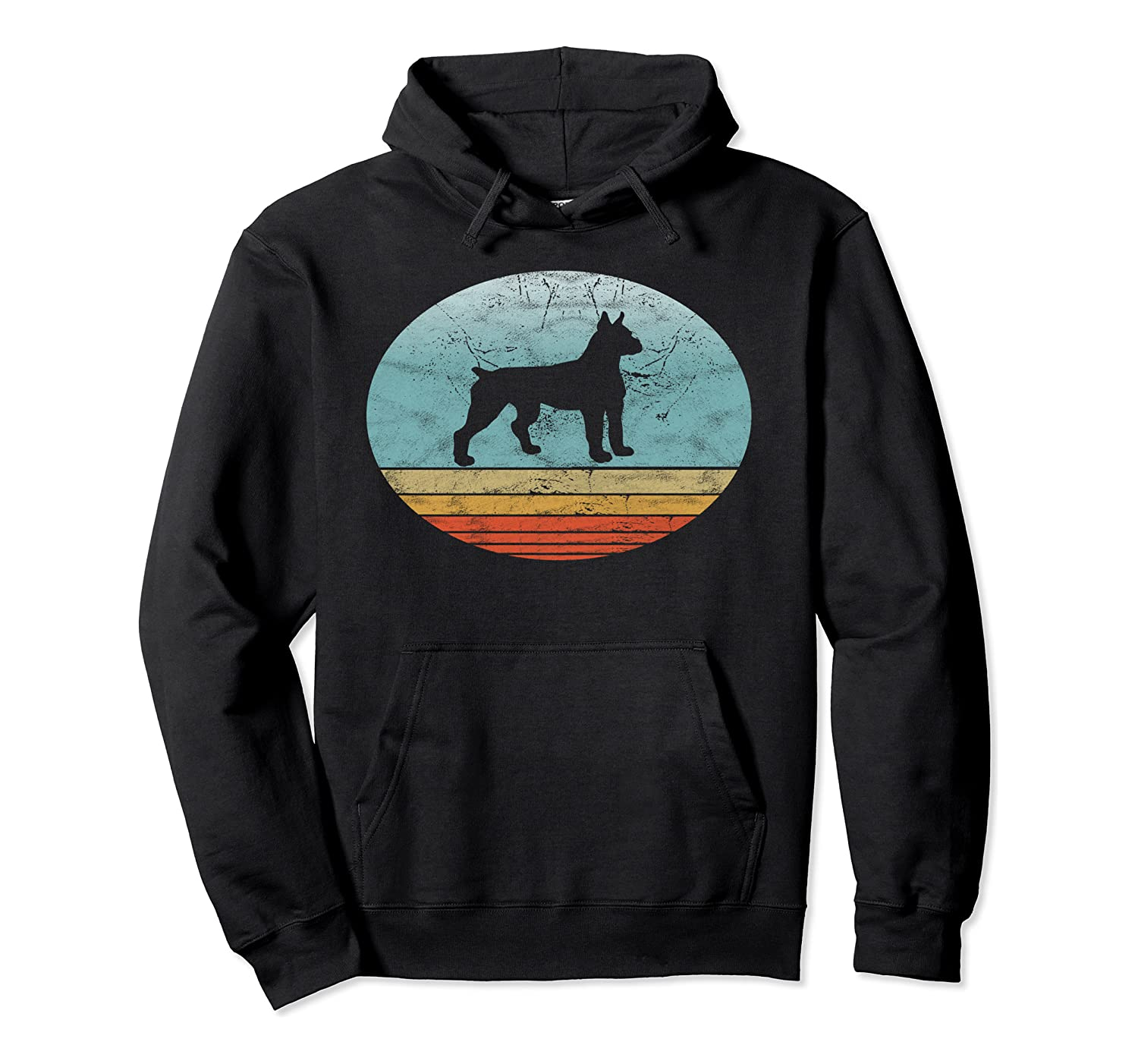 Retro Boxer Dog Breed Vintage Style Animal Dogs Lover Gift Pullover Hoodie