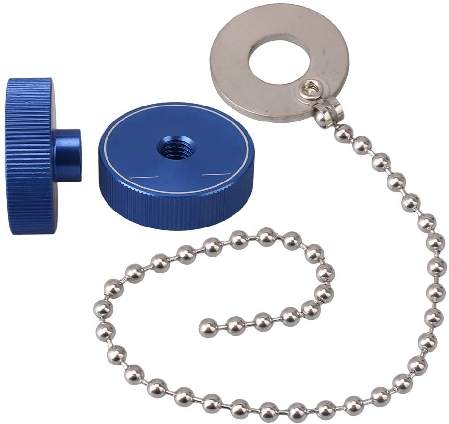 BQLZR Cymbal Rattler and 2 Pcs Blue Mental Cymbal Mate Nuts for Percussion Instrument
