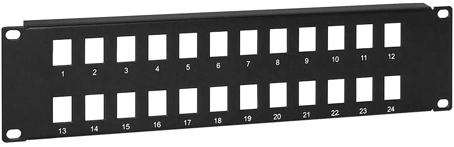 Blank Keystone Patch Panel, 24 port, 19